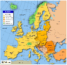 EU member states countries map