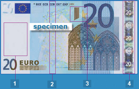 Euro bill security features
